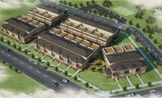<h5>Hinkley Park Project, Park Ridge, IL.  Development of 23 Townhomes.</h5>