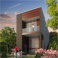 <h5>2640 Huron Project, Chicago, IL. Development of single family home 3,800 sq. ft.</h5>